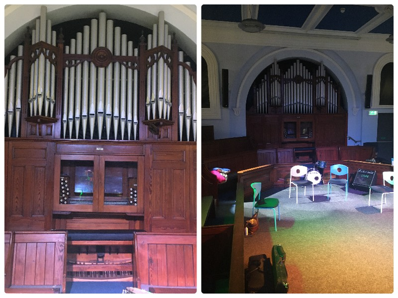 The restored pipe organ at Seacroft Chapel/ChapelFM